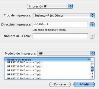 printer configuracion